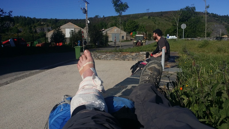 Camino feet injury