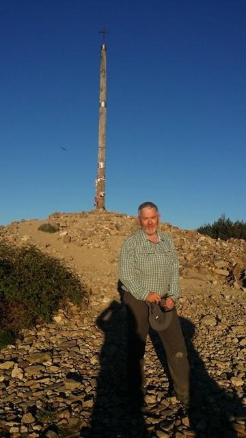 Rob O'Byrne at the Cruz de Ferro