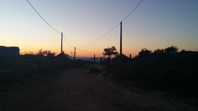 Walking out of Foncebadon