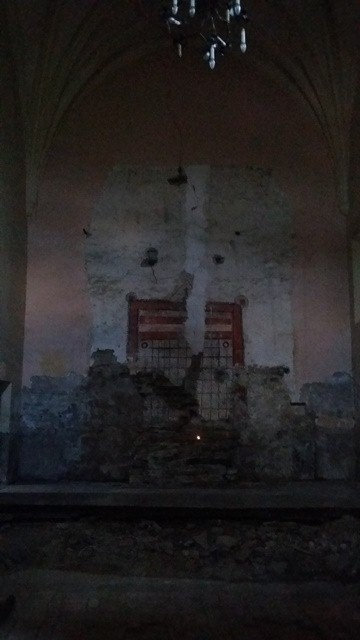 Inside Zabaldika Church