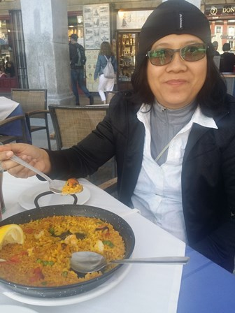 Eating Paella in Madrid