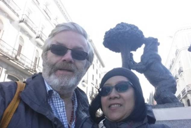 Rob and Pat in Madrid