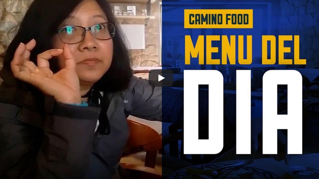 Menu del Dia – Dinner in Palas de Rei – Camino Frances