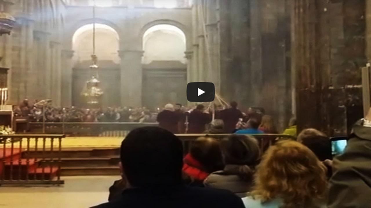 The Botafumeiro in the Cathedral of Santiago de Compostela – Camino Frances