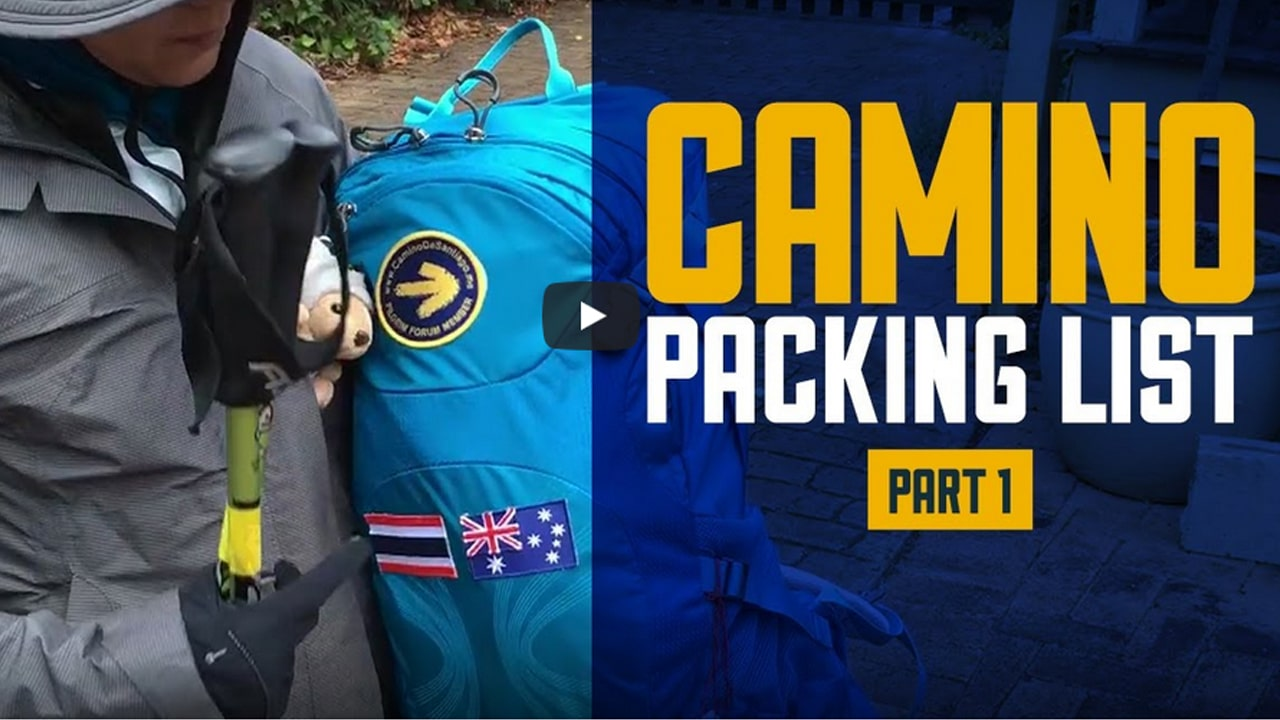 Pat's Camino Packing List Part 1 – Clothing – Camino de Santiago (English & Thai)